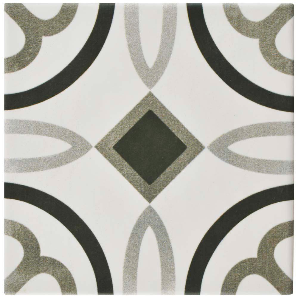 Floor 6x6 ceramic tile tile the home depot atelier antracita marais 5 78 in x 5 78 dailygadgetfo Image collections