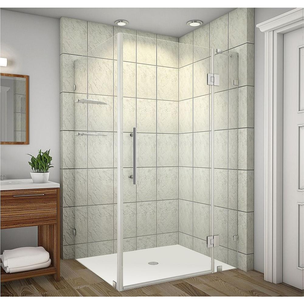 Aston Avalux GS 48 in. x 38 in. x 72 in. Completely Frameless Shower ...