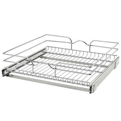 21 in. x 20 in. Single Kitchen Cabinet Pull Out Wire Basket