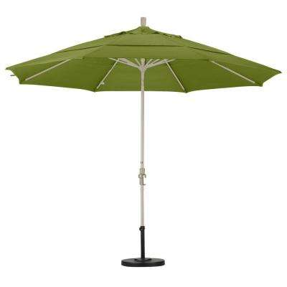 11 Ft. Aluminum Collar Tilt Double Vented Patio Umbrella ...