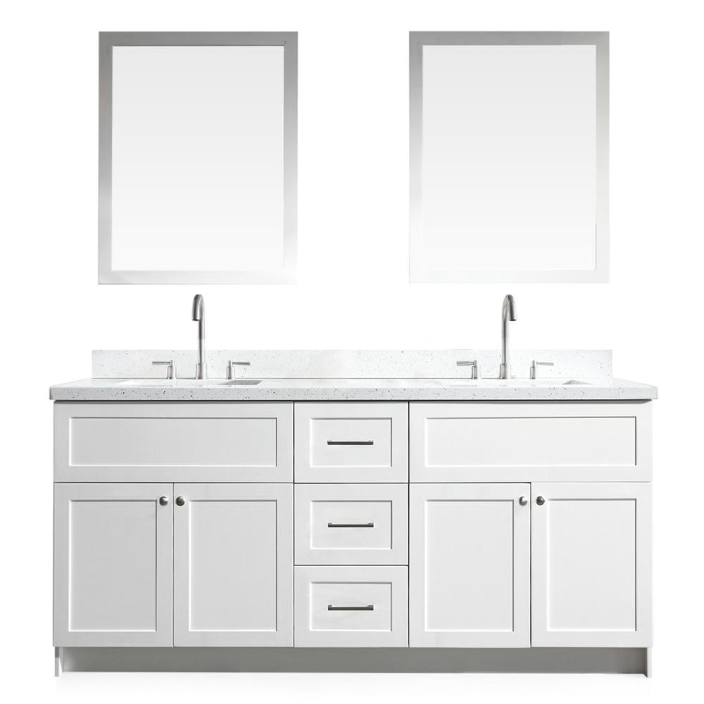 Bath Vanity In White With Quartz Top