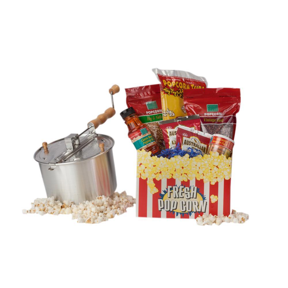 Whirley Pop 16-Piece Aluminum Popcorn Popper Set by Whirley Pop