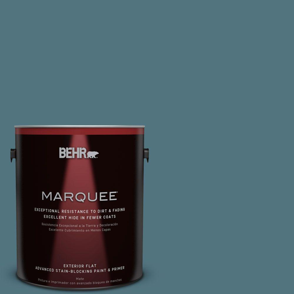 BEHR MARQUEE 1-gal. #ECC-54-2 Country Lake Flat Exterior Paint