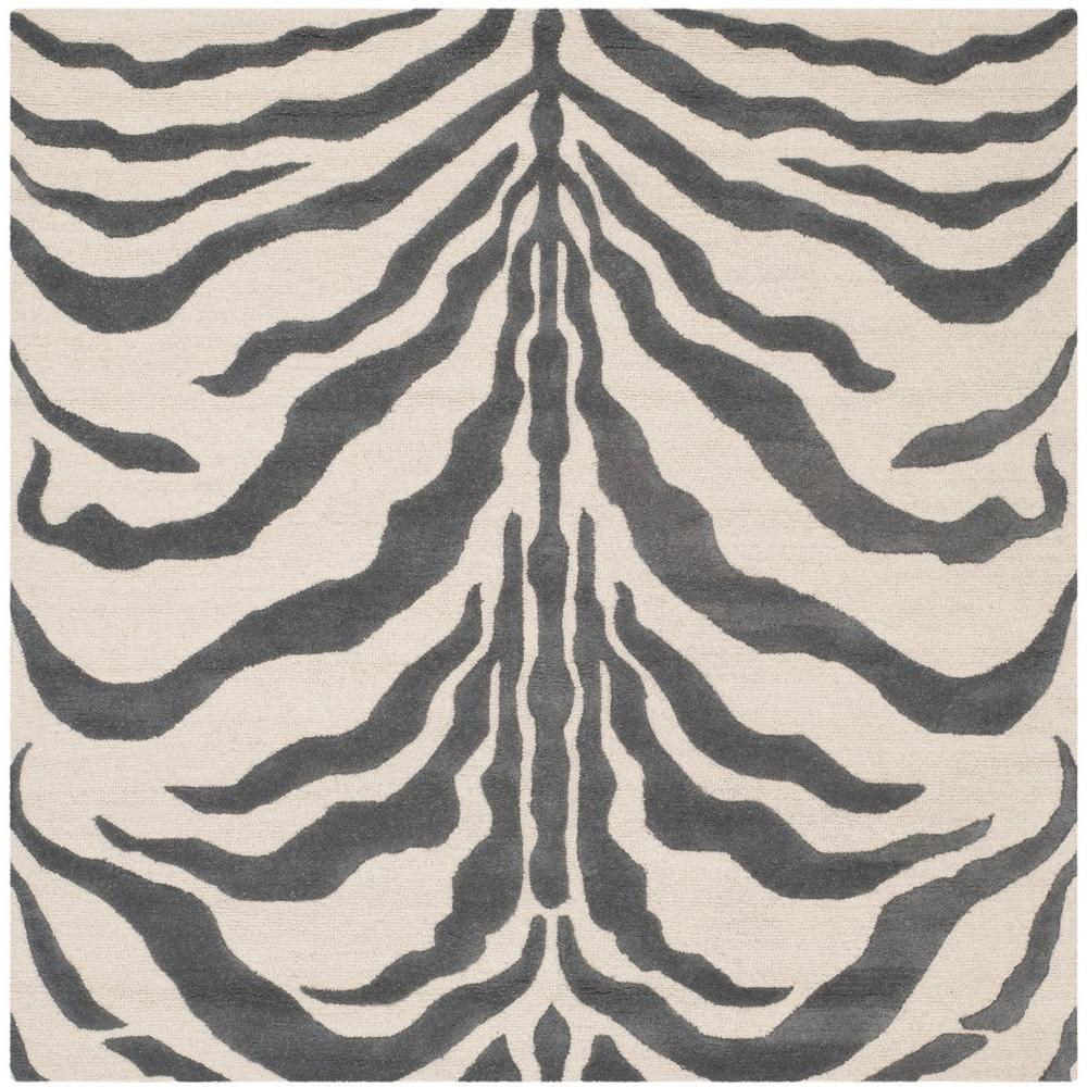 Cambridge Ivory/Dark Gray 6 ft. x 6 ft. Square Area Rug