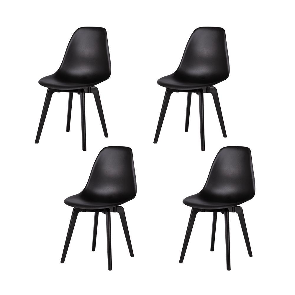 Lagoon Heron Black Dining Chair Set Of 4 7068k5 Sdtos The Home Depot