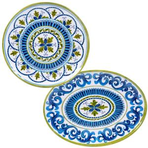 2-Piece Blue Grotto Platter Set by