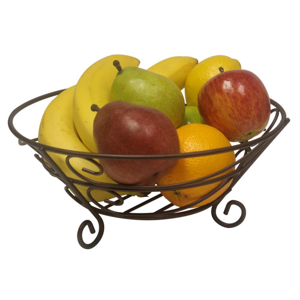 Home Basics Bronze Fruit Basket FB10650