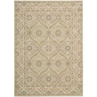 Persian Empire Light Gold 8 ft. x 11 ft. Area Rug