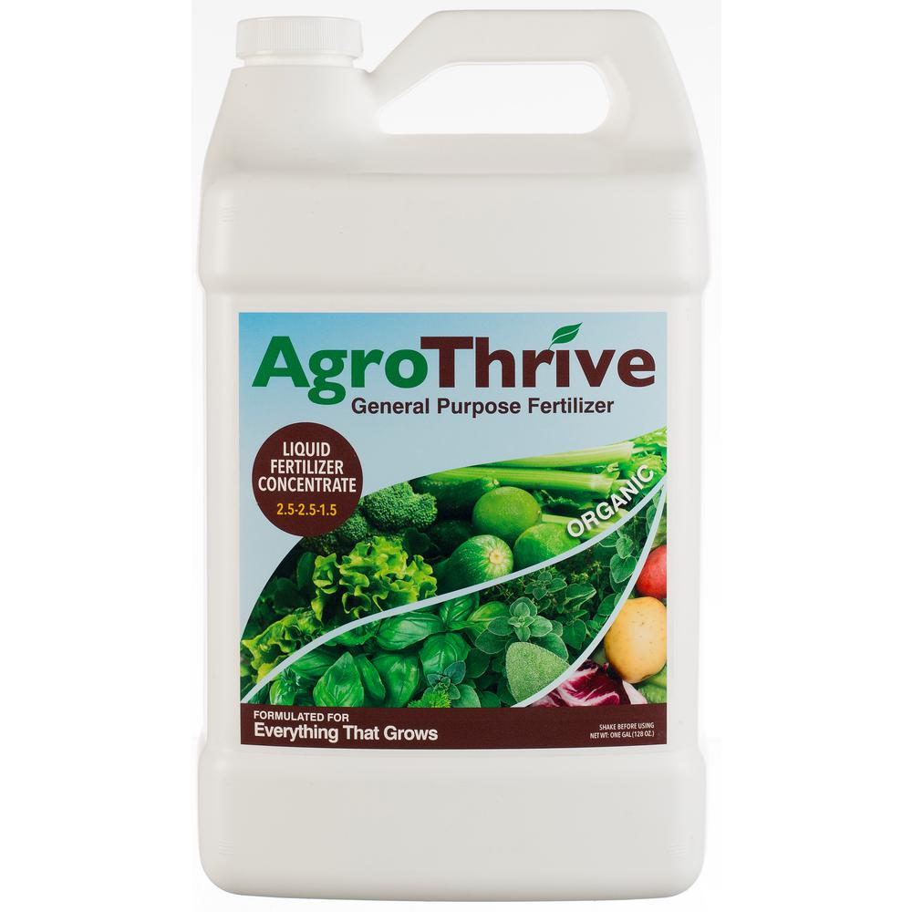 AgroThrive 1 Gal. General Purpose Organic Liquid Fertilizer