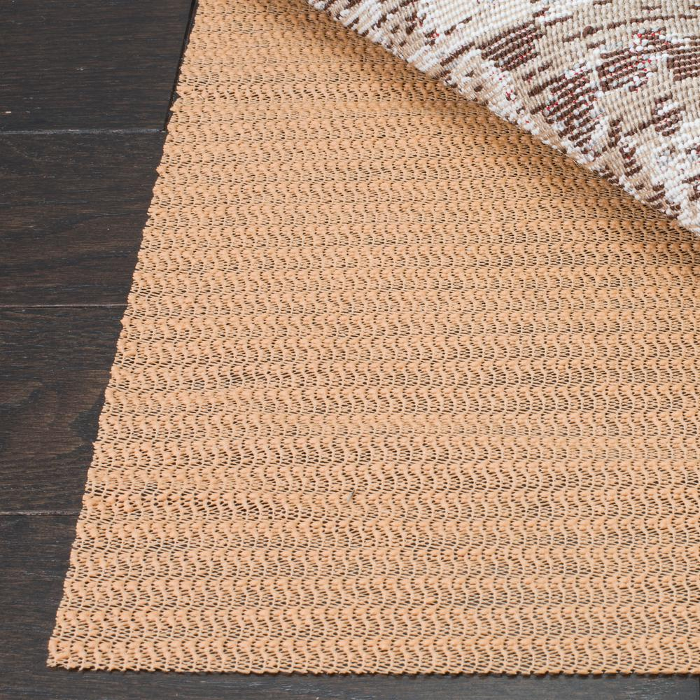 Safavieh Grid Beige 10 ft. x 14 ft. Non-Slip Synthetic Ru...