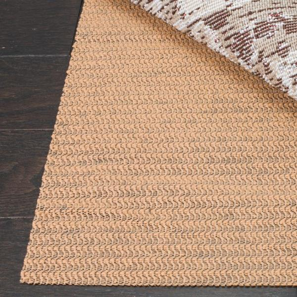 Grid Beige 9 ft. x 12 ft. Non-Slip Synthetic Rubber Rug Pad