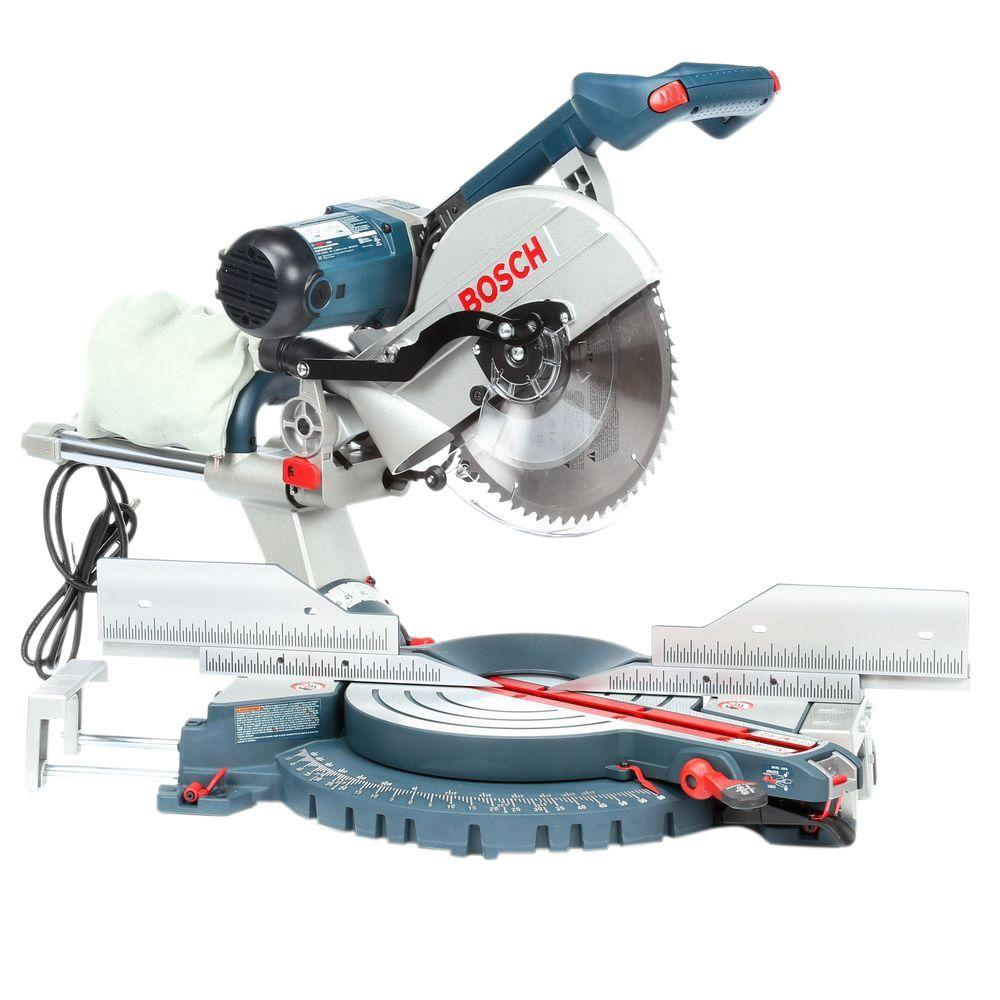 Bosch 15 Amp Corded 12 in. Dual Bevel Slide Miter Saw with Upfront Controls
