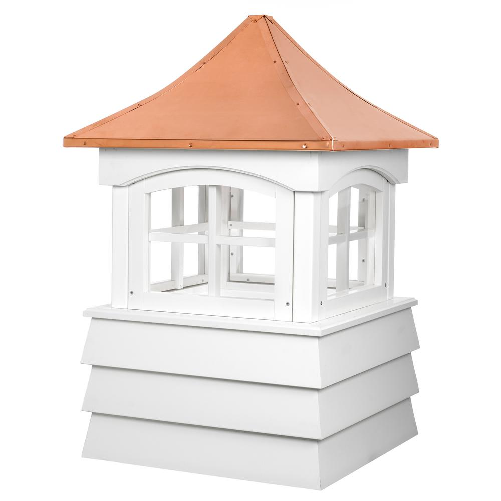 Guilford 30 in. x 49 in. Vinyl Cupola with Copper Roof