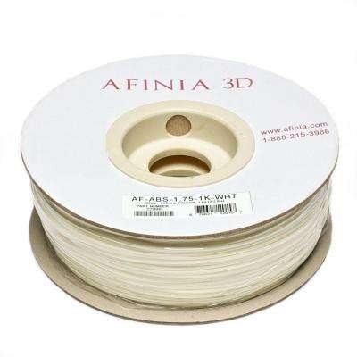 Value-Line 1.75 mm White ABS Plastic 3D Printer Filament (1kg)