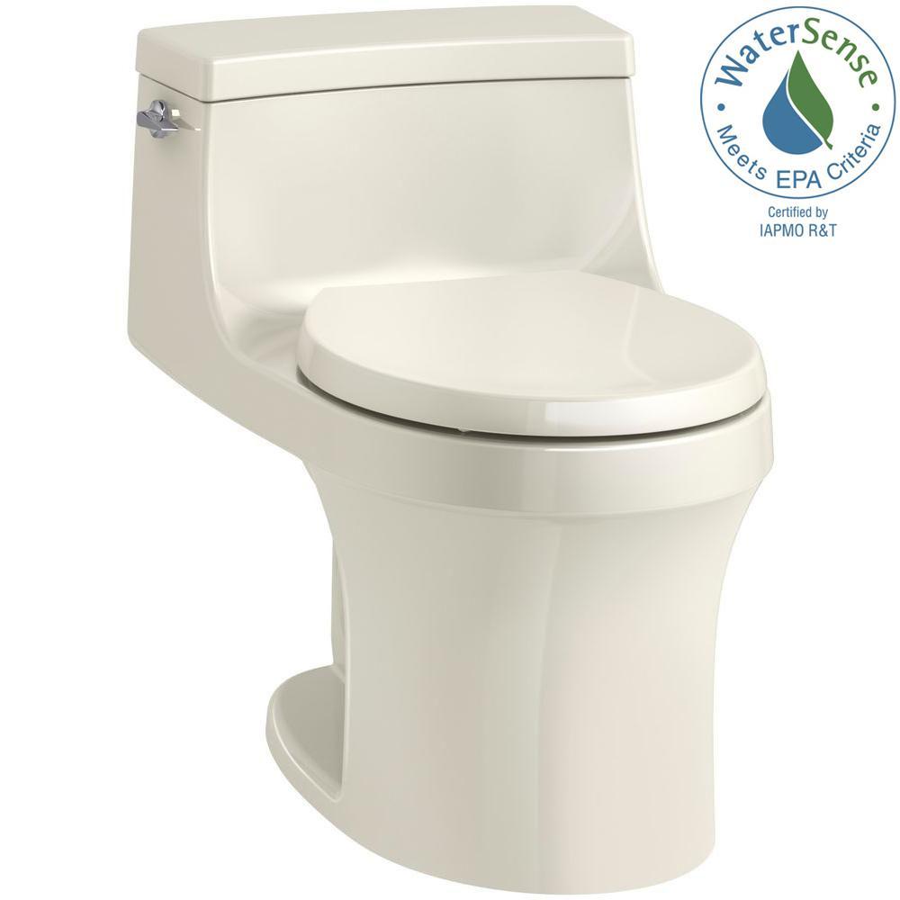 KOHLER San Souci 1-piece 1.28 GPF Single Flush Round Toilet in White ...