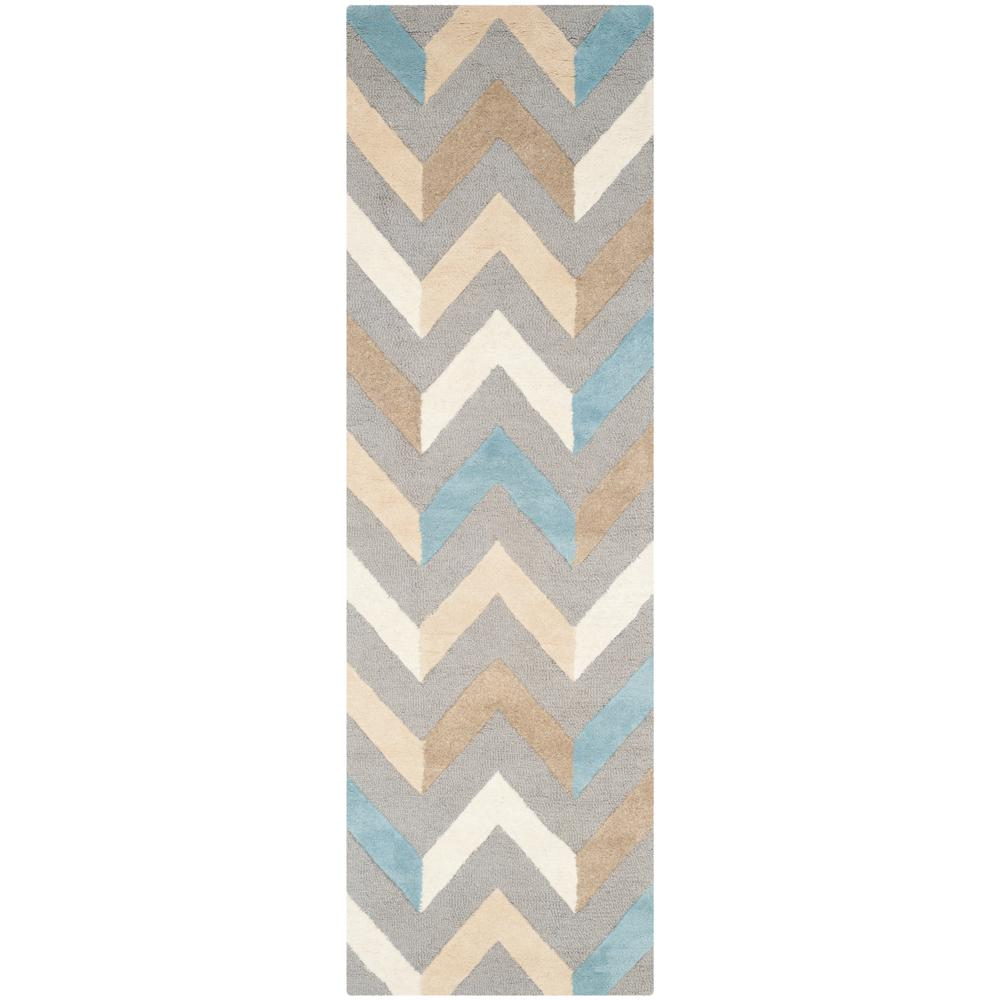 Cambridge Gray/Ivory 3 ft. x 8 ft. Runner Rug