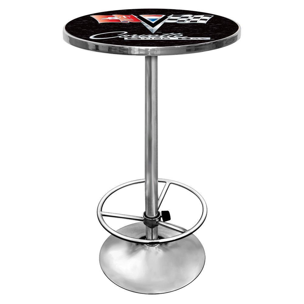 Trademark Corvette Black Pub/Bar Table GM2000B-C2-COR