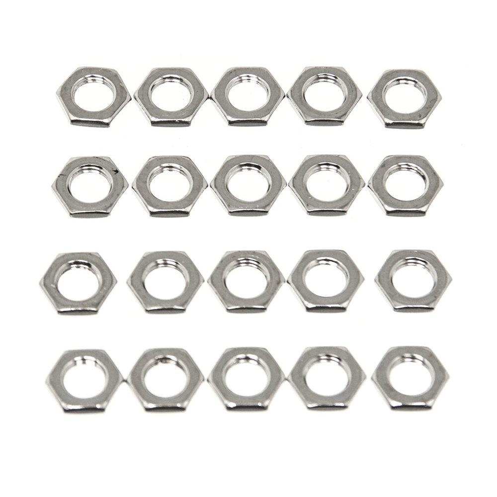 Wheel Masters 9022-20 Hardware 5//16-32 Nut Nickel Plated-20 Pack