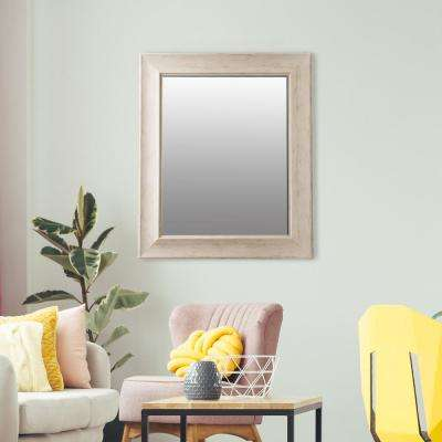 Bainbri Rectangular Beveled White Washed Wall Mirror