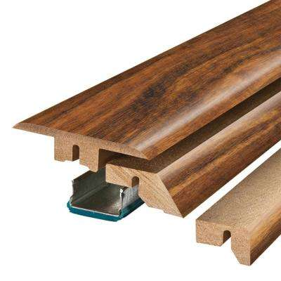 Hawaiian Curly Koa 3/4 in. Thick x 2-1/8 in. Wide x 78-3/4 in. Length Laminate 4-in-1 Molding