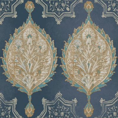 Henna Palm Ogee Paper Strippable Wallpaper (Covers 56 sq. ft.)