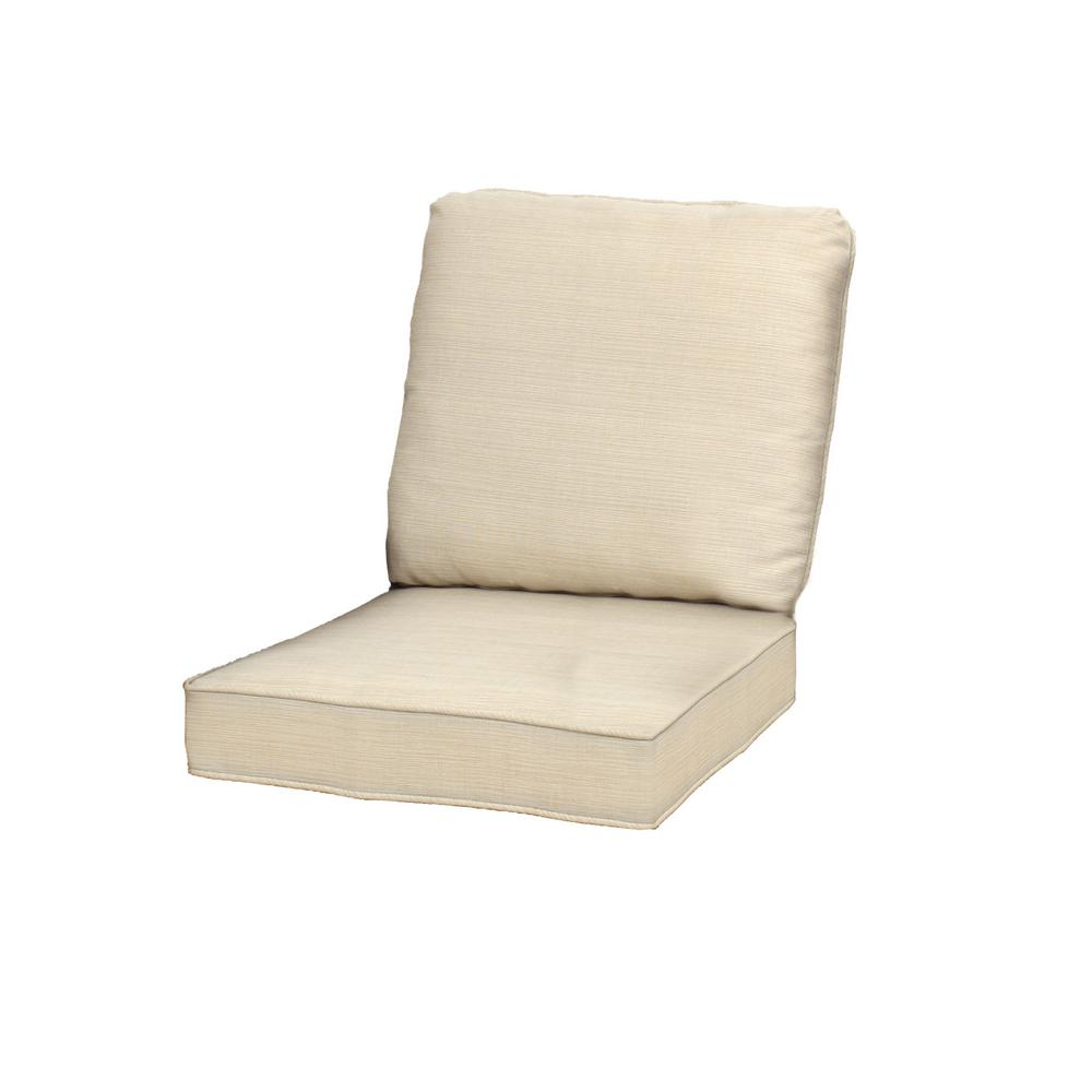 23.25 x 27 Outdoor Lounge Chair Cushion in Standard Beige