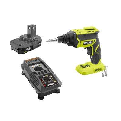 18-Volt ONE+ Brushless Drywall Screw Gun Kit with (2) 1.5 Ah Compact Lithium-Ion Battery and (1) 18-Volt Charger