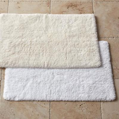 Estate Solid Cotton Bamboo Bath Rug