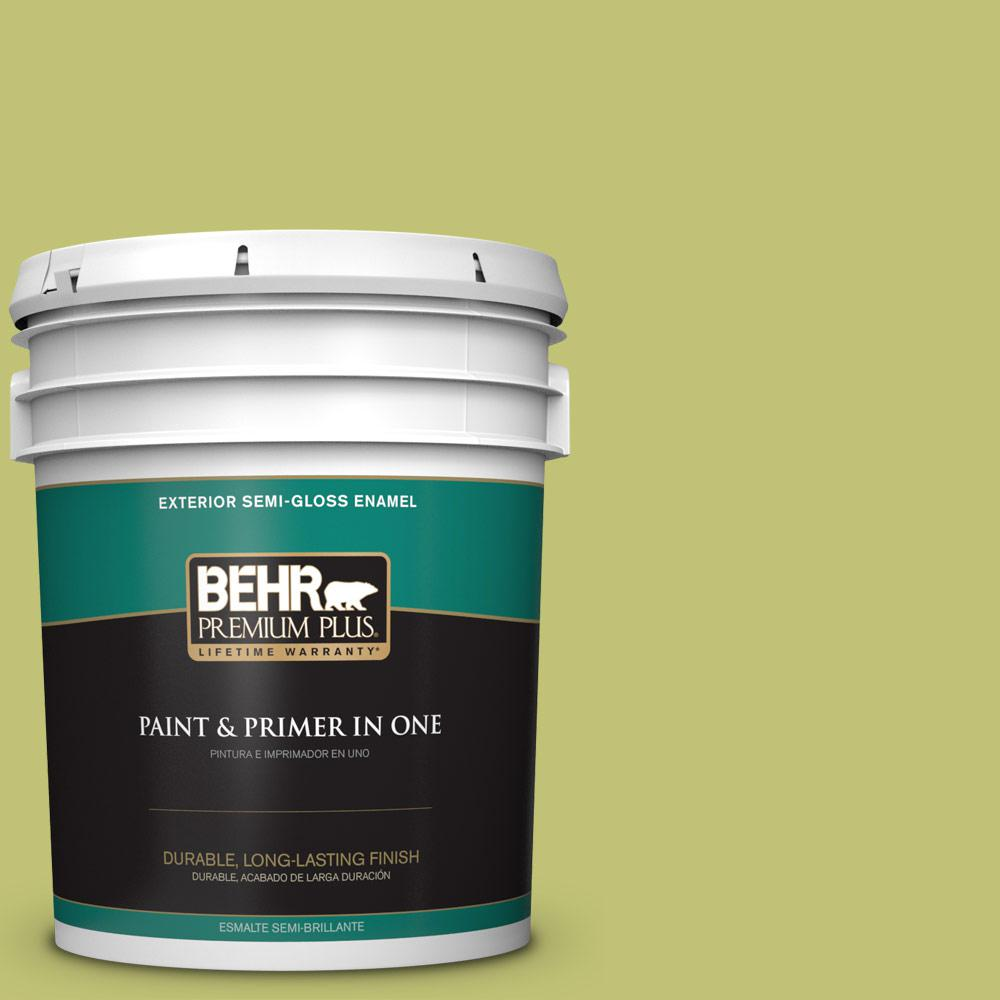 5 gal. #PPU9-07 Fresh Sprout Semi-Gloss Enamel Exterior Paint