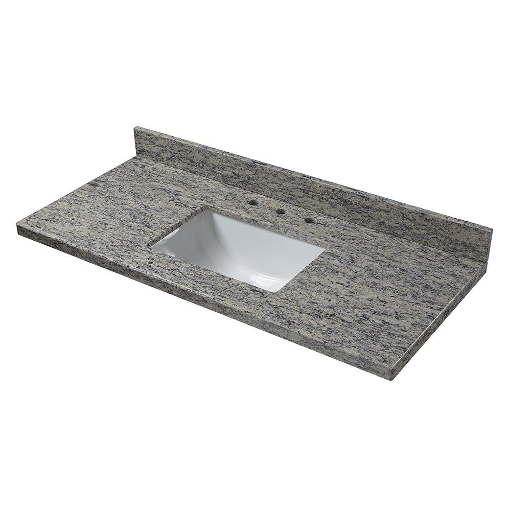49 in. W x 22 in. D Granite Vanity Top in