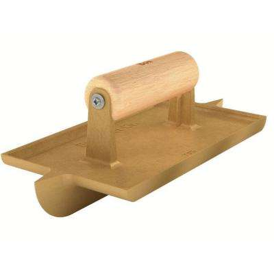8 in. x 4-1/2 in. Bi-Directional Concrete Groover Bit Size of 1 in. x 1/2 in. with Wooden Handle