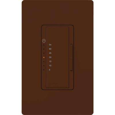 Maestro 5 Amp 600-Watt Light/3 Amp In-Wall Fan Digital Timer - Terracotta