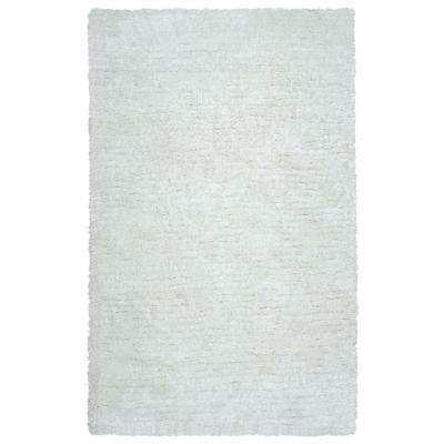 Commons Ivory Polyester Shag 8 ft. x 10 ft. Area Rug