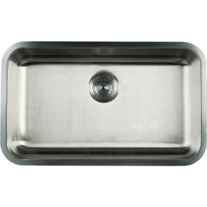 undermount stainless steel 30 in single basin kitchen sink - Undermount Kitchen Sinks