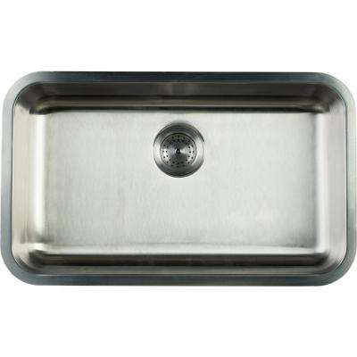 Undermount Stainless Steel 30 in. Single Basin Kitchen Sink