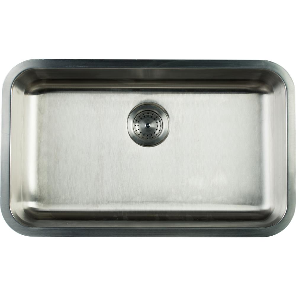 MSI Undermount Stainless Steel 30 in. Single Bowl Kitchen Sink
