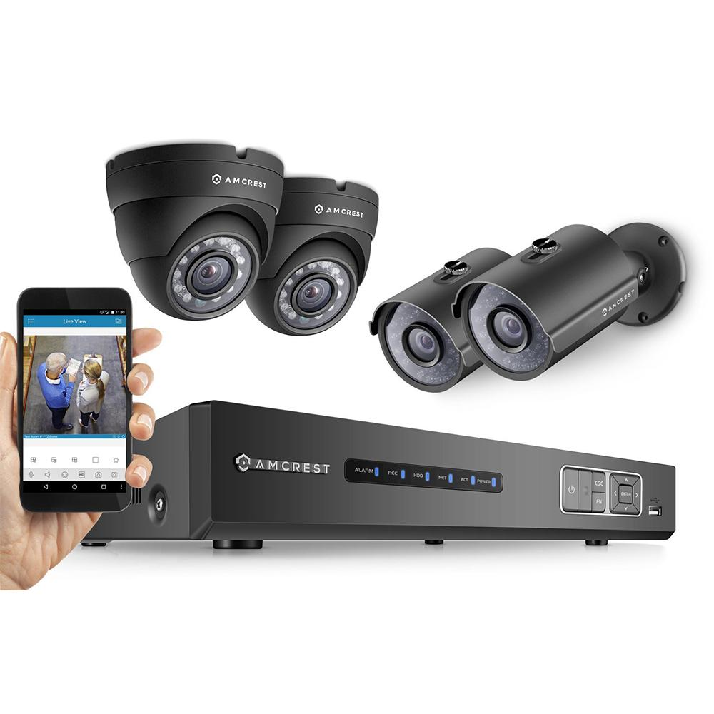 ProHD 720P 4CH Security System - Four 1.0-MP, IP67 Bullet...