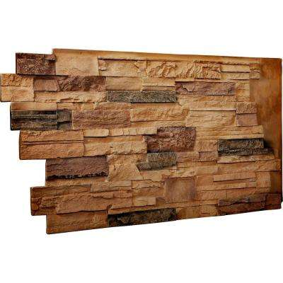 1-1/2 in. x 48 in. x 25 in. Arizona Gold Urethane Dry Stack Stone Wall Panel
