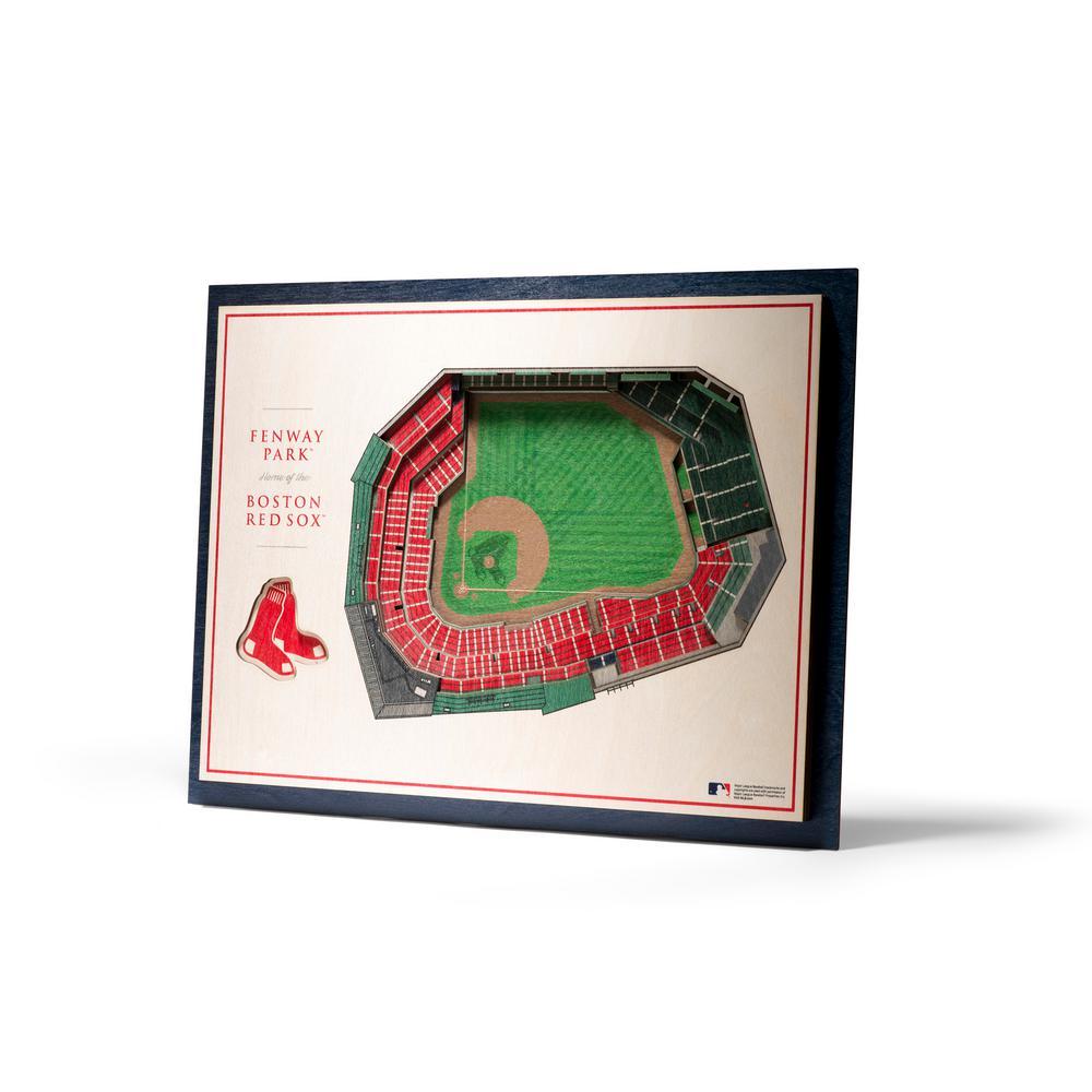 MLB Boston Red Sox 5-Layer Stadiumviews 3D Wooden Wall Art