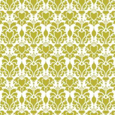 Hillsborough Damask Four Repeat Pattern Wall Stencil