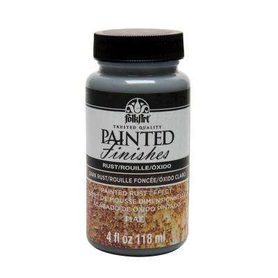 4 oz. Brown Faux Rust Painted Finish