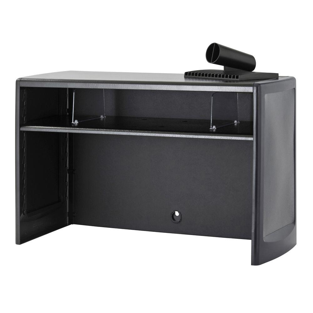 buddy products 30 in black metal space saver 1118 4 the home depot rh homedepot com desk organizer cabinet desk organizer storage