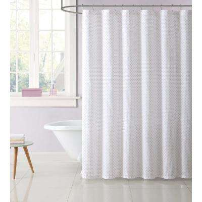 Kids 72 in. Pink Dot Shower Curtain