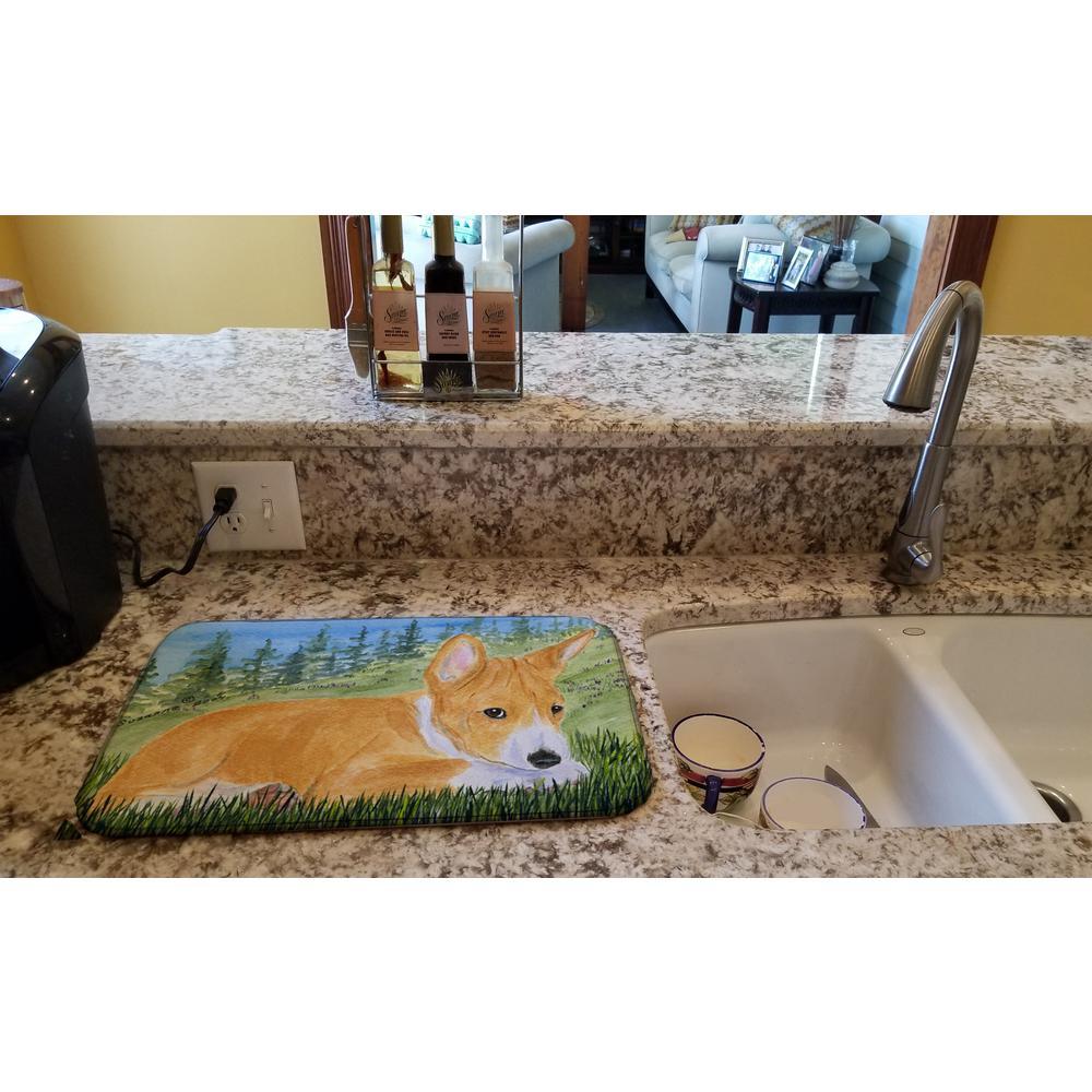 14 in. x 21 in. Multicolor Basenji Dish Drying Mat