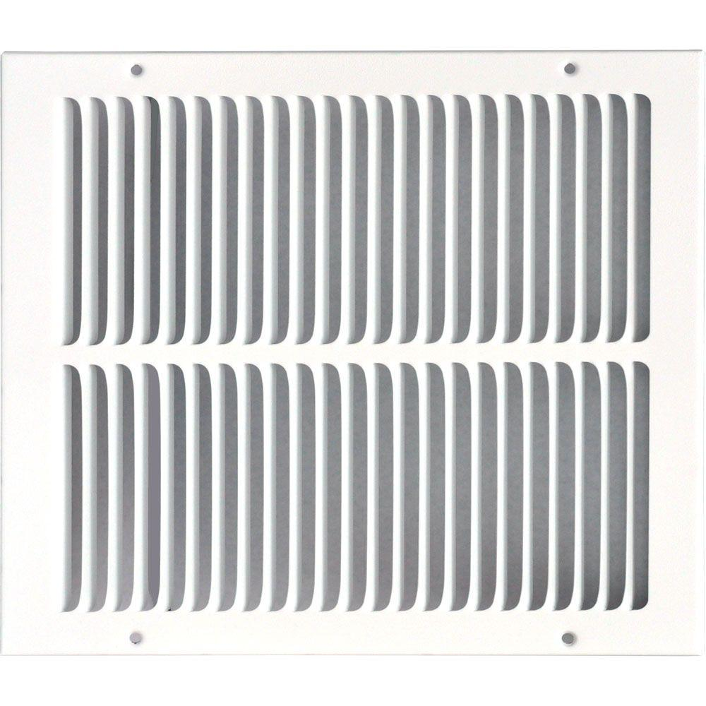 12 in. x 14 in. Return Air Vent Grille, White with