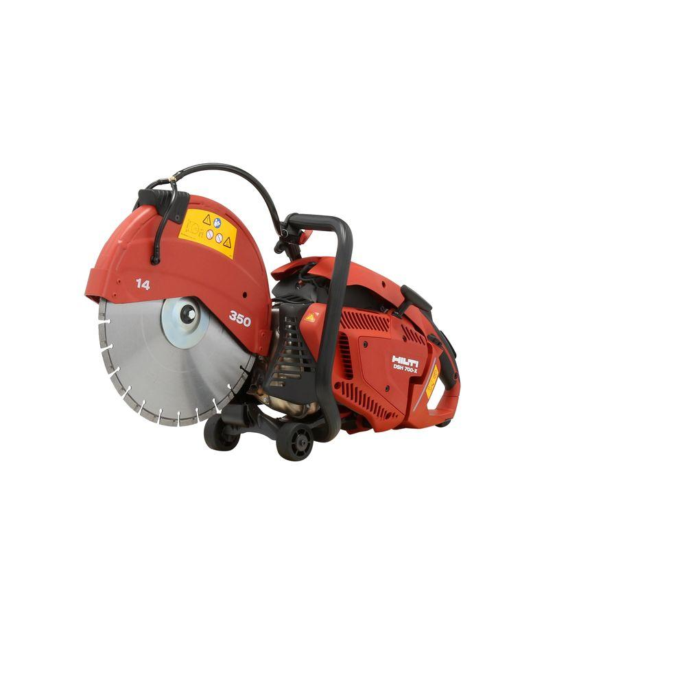 DSH 700-X 70CC 14 in. Hand Held Gas Saw with Blades
