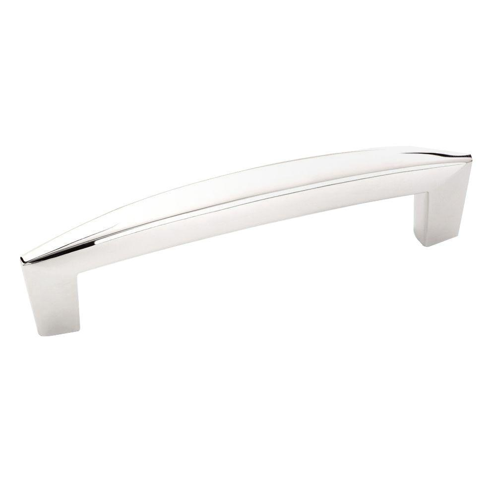 Creased Bow 3-3/4 in. Polished Chrome Pull