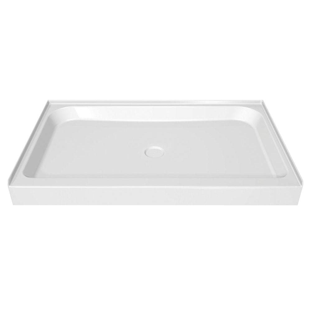 MAAX 42 in. x 36 in. Single Threshold Shower Base in White