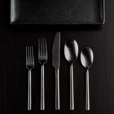Jayden 20-Piece Black 18/0 Stainless Steel Flatware Set (Service for 4)
