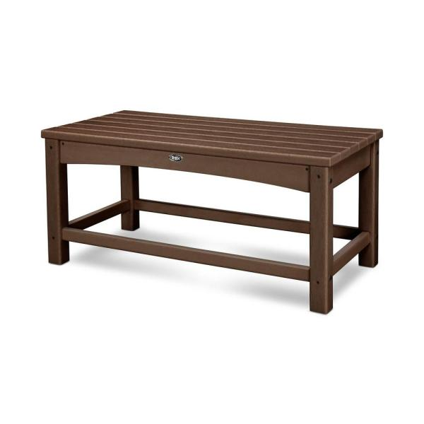 POLYWOOD Club White Patio Coffee Table CLT1836WH